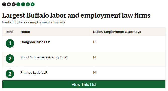 Largest Buffalo labor and employment law firms