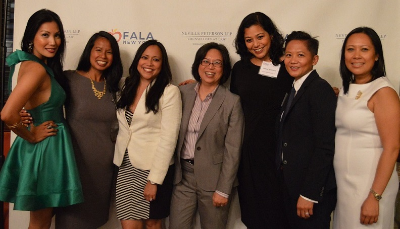 Anna Mercado Clark and women of the Filipino American Lawyers Association of New York