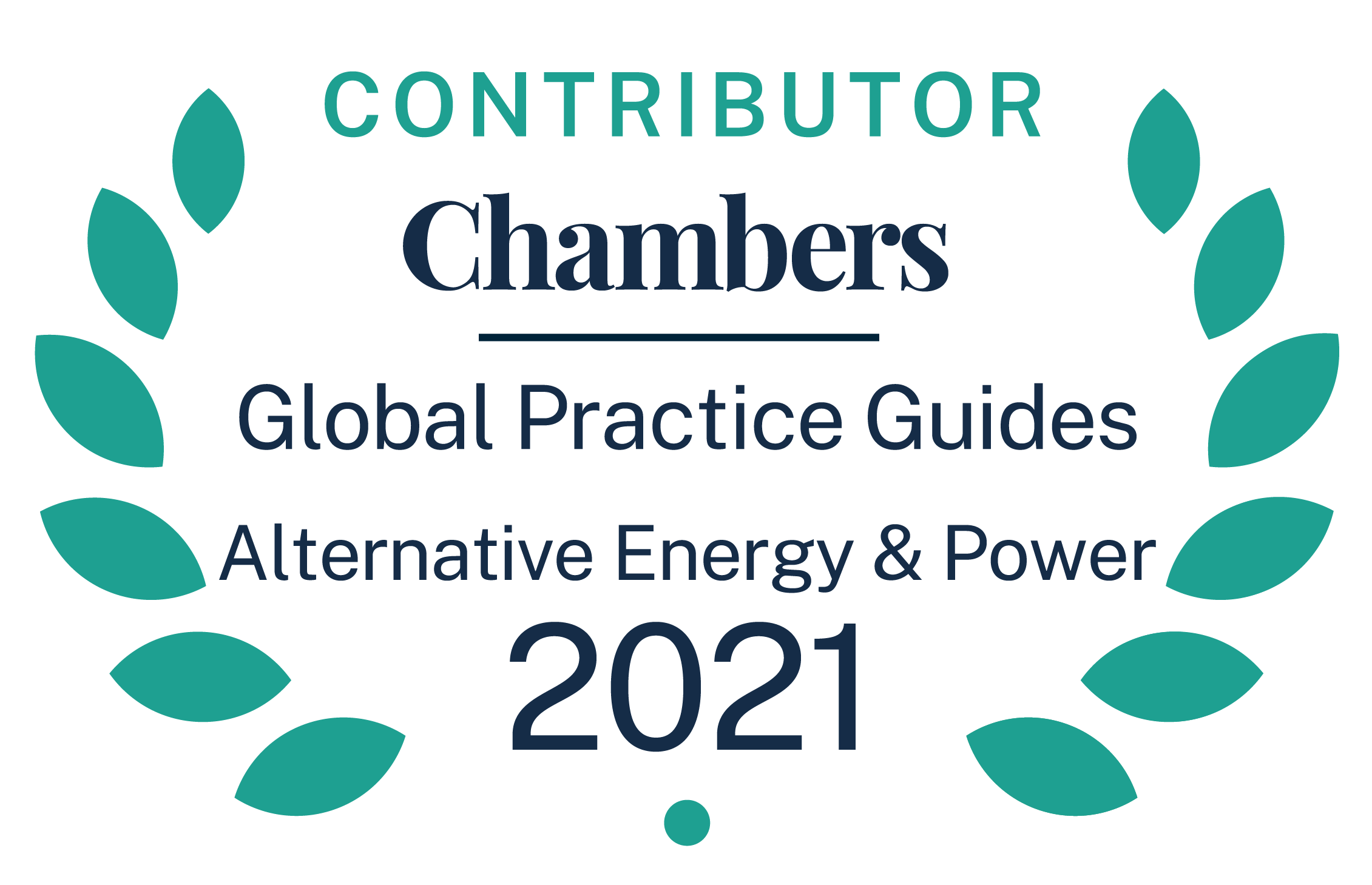 Contributor, Chamber Global Practice Guides for Alternative Energy & Power
